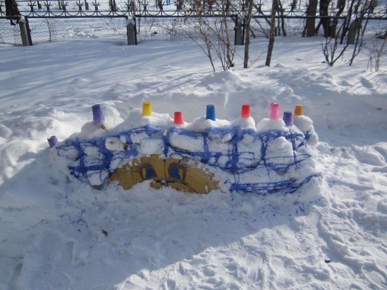 Башни из снега своими руками